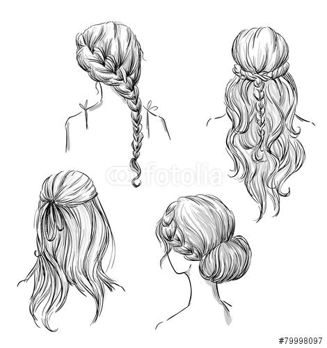 drawing hairstyles profile Google Search