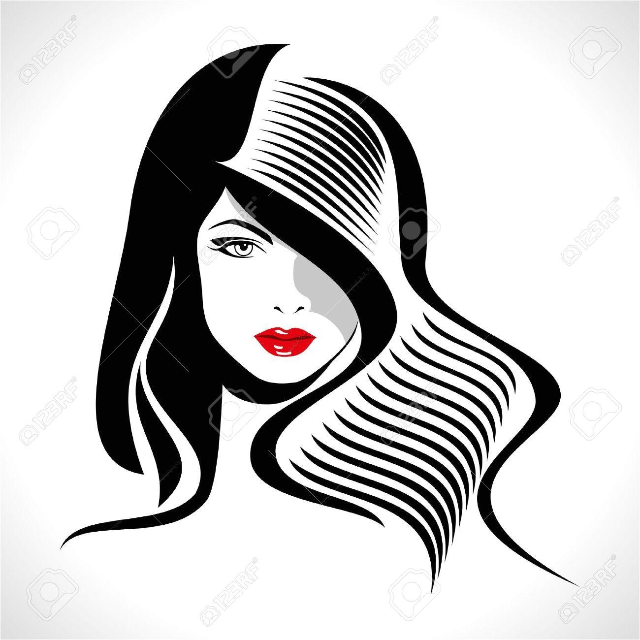 barbershop logo design Google Search Girl Silhouette Silhouette Vector Silhouette Pop