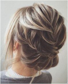 Beautiful twisted wedding updo hairstyle