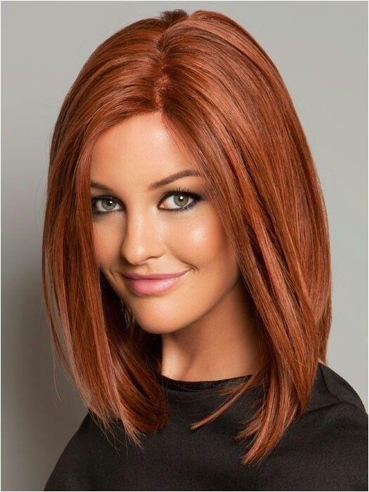 Straight Long Bob Hairstyle with Beautiful Color Medium Length Haircuts 2015