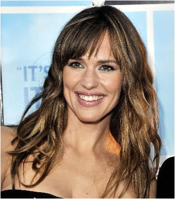 Wavy hair and fun bangs can create a lively look on a heart shaped face Jennifer Garner is another A list source of inspiration for great haircuts that