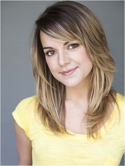Medium Layered Haircut for Thick Hair Round Faces Hairstyle Ideas