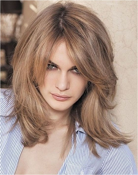 Medium Length Hairstyles With Side Bangs And Layers