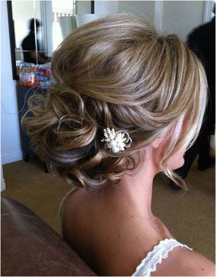 updos for medium length hair with flower