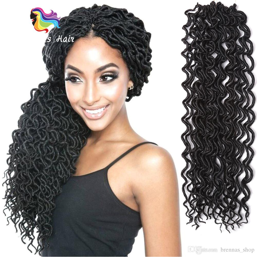 2019 New Hairstyle Wavy Faux Loc Curly Braiding Hair Extensions Crochet Braids African Nubian Twist Locs Havana Mambo Twist Hair Bundles USA UK From