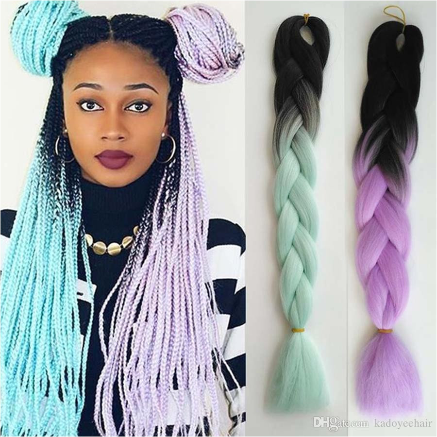 2019 Ombre Kanekalon Braiding Hair Braid 100g Piece White Synthetic Crochet Braids Hairstyles Braiding Twist Extensions South Africa Uk Usa From Kadoyeehair