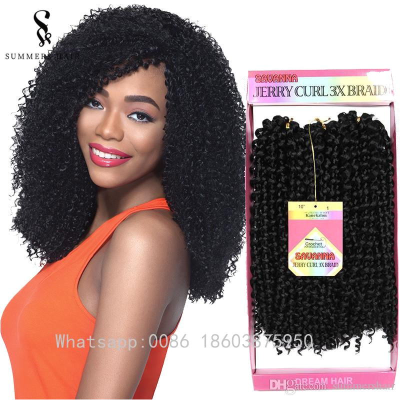 Summershair Kinky Curly Crochet Braids 10inch Short Synthetic Marlibob Hair Extensions Ombre Freetress Deep Twist Hairstyle Kinky Curly Crochet Braids Short