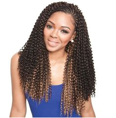 Isis Caribbean Bundle Braid Cork Screw hairweave HairExtensions BraidingHair Curly Crochet Braids