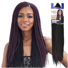 FreeTress Synthetic Hair Crochet Braids Senegalese Twist Small
