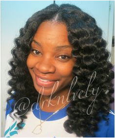 Crochet braids with knot less part DrkNlvely