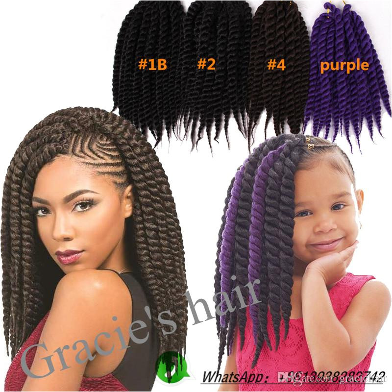 Großhandel Synthetische Haarmassen Havana Twist Crochet Braids Synthetische Haarverlängerungen 12inch Afro Kinky Twist Freetress Häkeln Zöpfe
