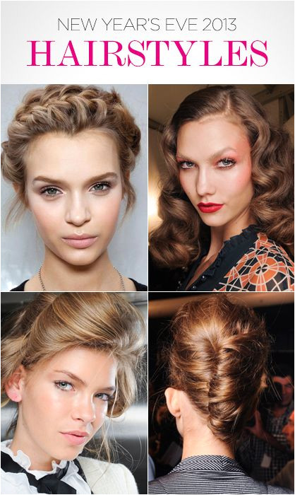 This New Year s Eve beauty guide will help you create braided hair bouffant old Hollywood curls and up dos for a house party cocktail party night out on