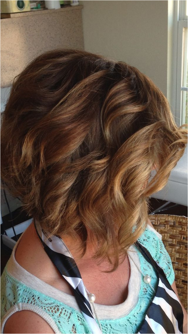 Curled Stacked bob This is forting for a girl like me with long hair I like to curl Thinking about a stacked bob in the future