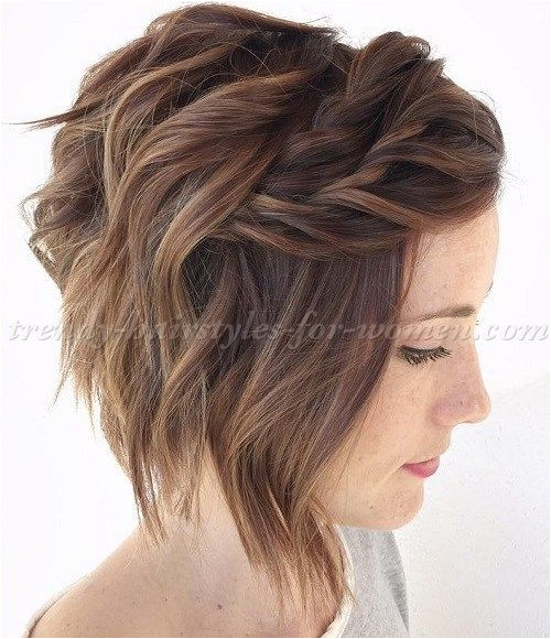 Curly Hair A Line Bob Short Wavy Hairstyles for Women Wavy A Line Bob Hairstyle with