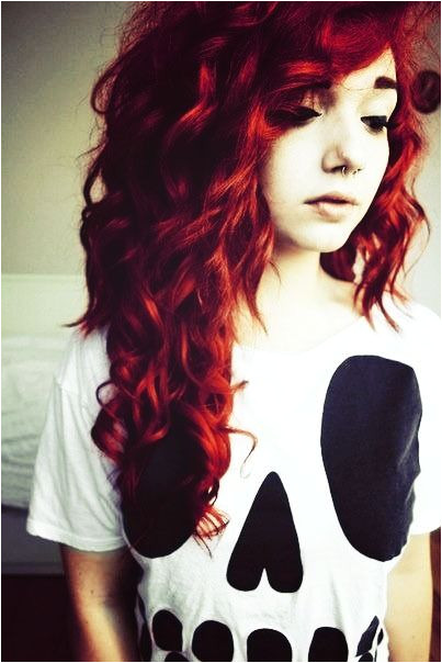 Curly Hair Emo Hairstyles Scene Girl Curly Hairstyle to Try Maybe Pinterest