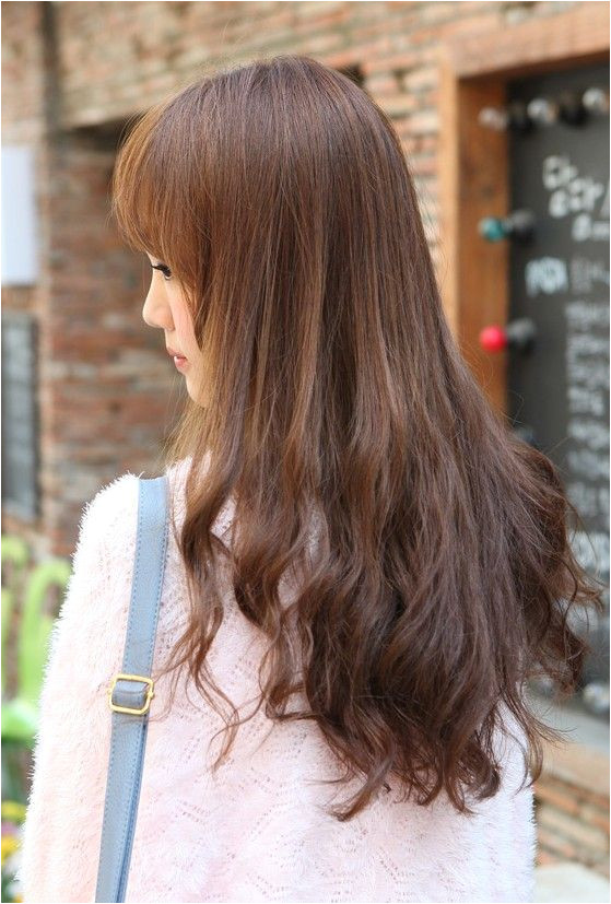 back of hairstyles Back View of Korean Long Hairstyle