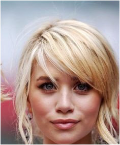 Choppy side swoop bangs mary kate olsen haircuts for round faces Pony Hairstyles Side