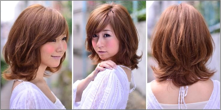 shoulder length haircuts no bangs round face