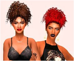 Sims 4 CC s The Best Hair by Simblr in London Afro Hair Sims 4