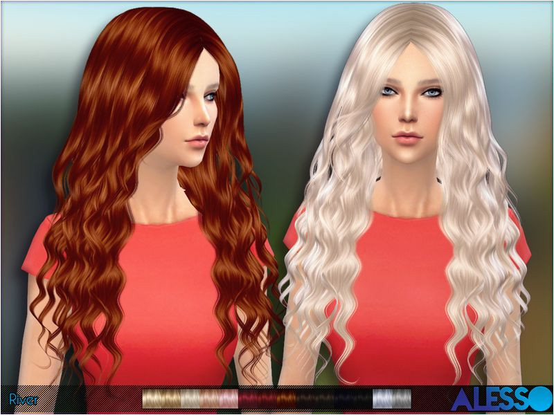 Long curly hair for females Found in TSR Category Sims 4 Female Hairstyles