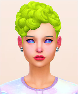 Maxis Match CC for The Sims 4 • holosprite Curly on Top in Pooklet s Unnaturals