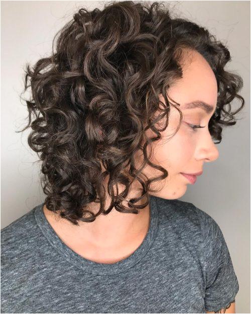 Modern Curly Bob Haircut