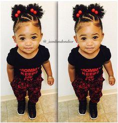 She is so cute plus her hair a ww
