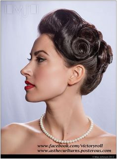 1940s updo victoryroll
