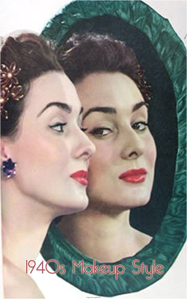 Cute 1940 S Hairstyles 40 S Makeup Her Looking at Her Reflection is Cute I Like the Idea