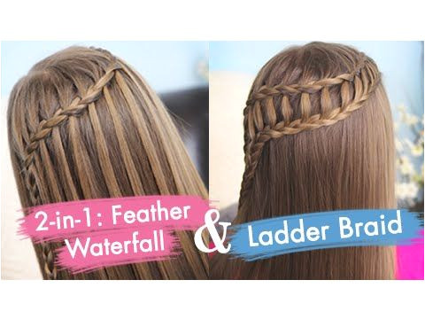 Feather Waterfall & Ladder Braid bo