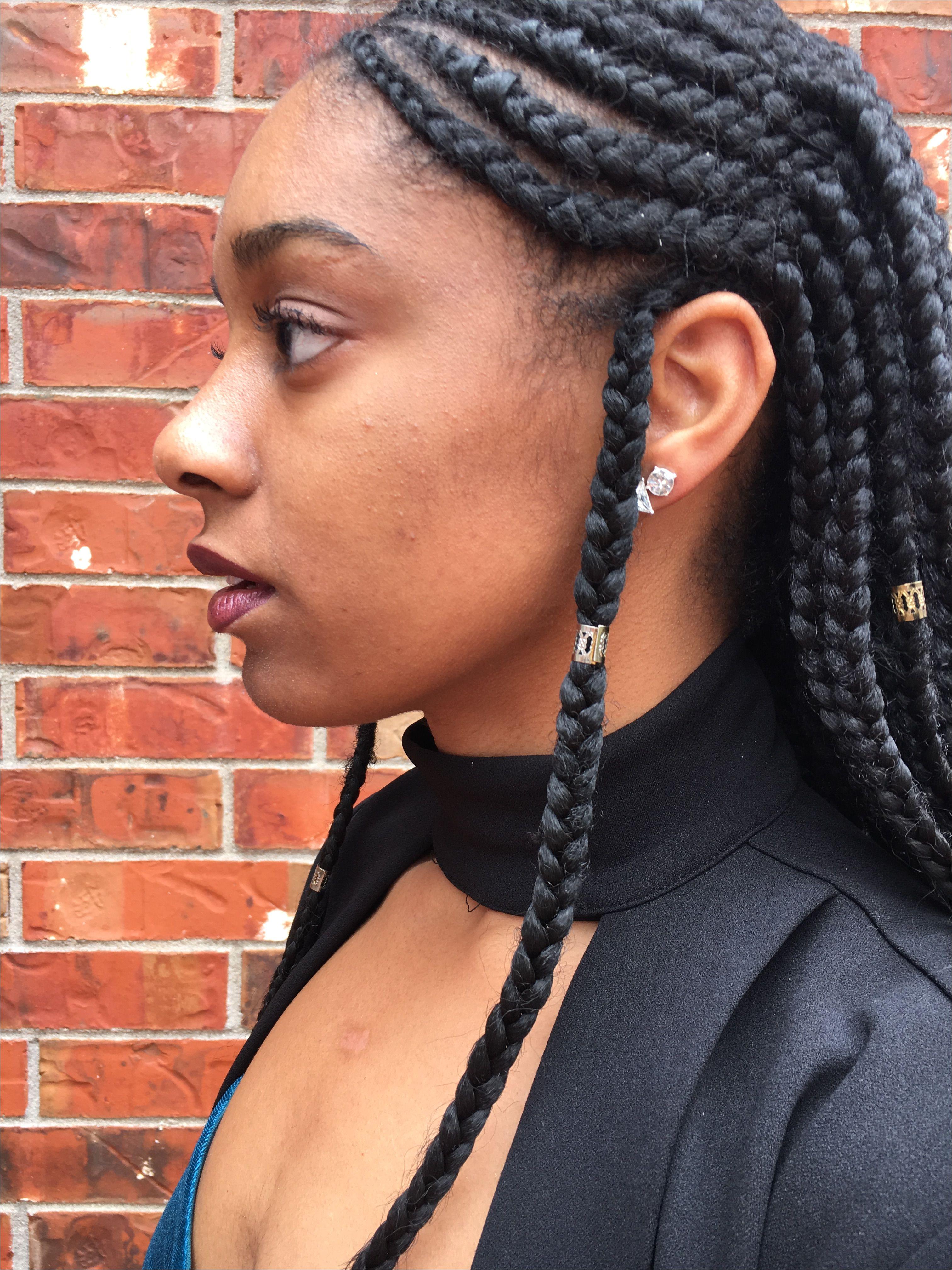 Natural hair protective style 4c 3b Fulani braids