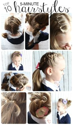 Cute 5-10 Minute Hairstyles 124 Best Hair Ideas Images On Pinterest