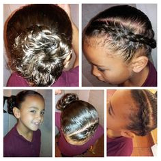 Hair style 6 for girls with curly hair Is not as difficult as it