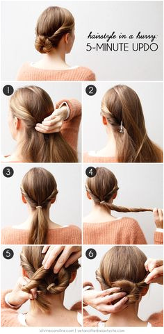 Hairstyle in a Hurry A 5 Minute Updo