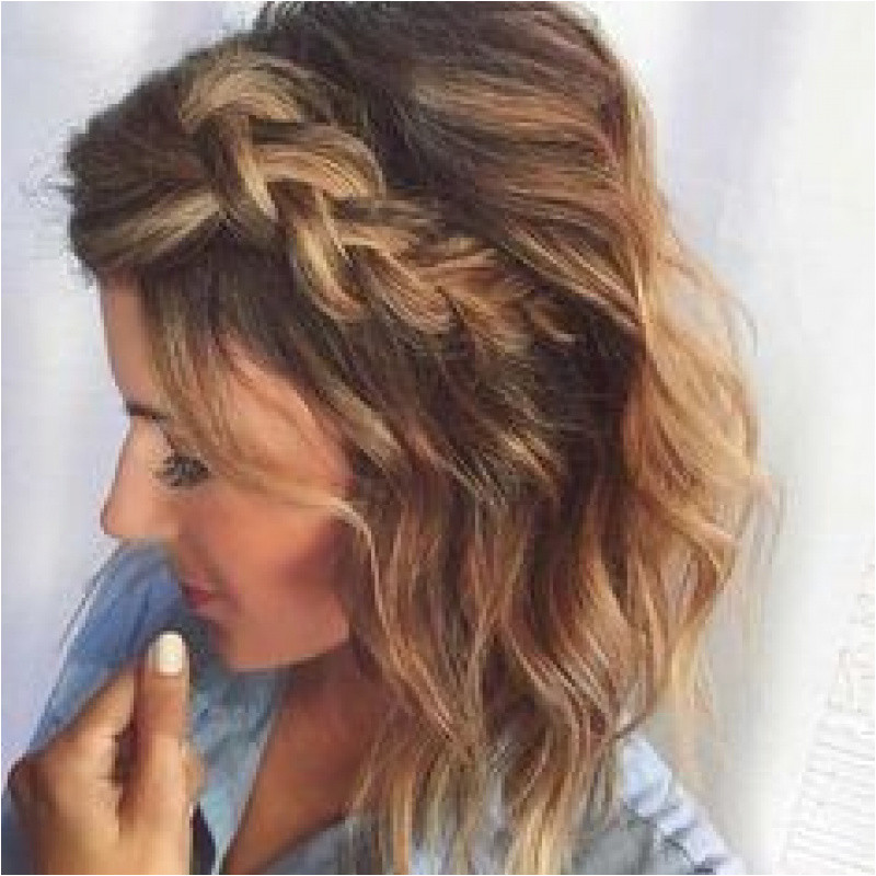 Cute Short Haircuts for Prom Unique 30 Cute Braided Hairstyles for Short Hair Pinterest