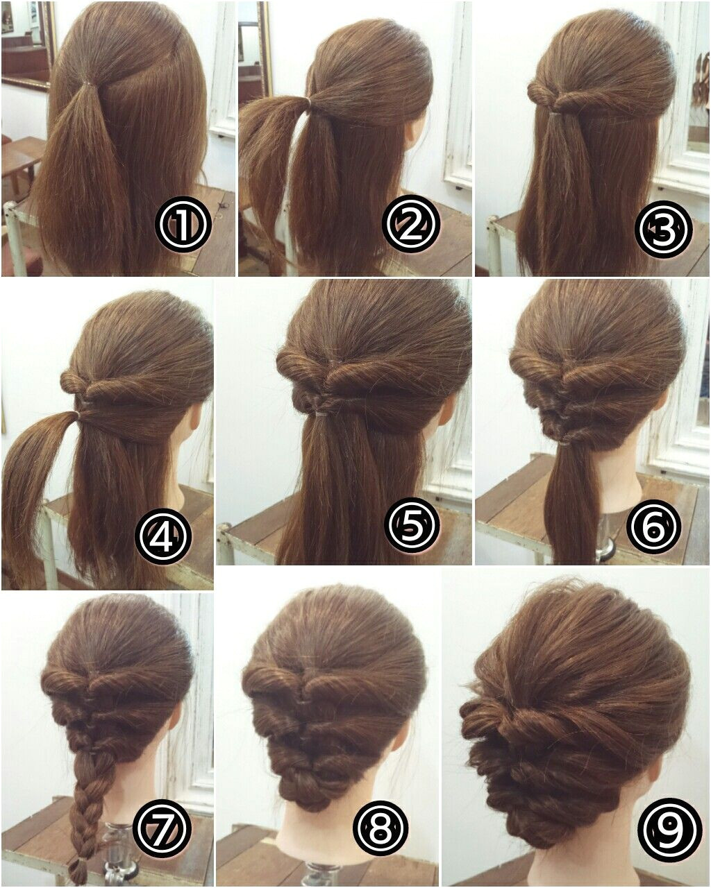 I m going to try this Long Hair Updo Prom Long Hair Casual Updo