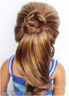 American Girl Doll Fancy Ponytail Hairstyle through for tutorial Ag Doll Hairstyles