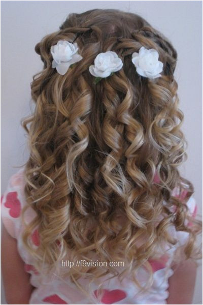 Cute Little Girl Curly Back View Hairstyles prom hairstyles