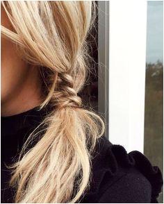 tiny braid pony Cute Blonde Hairstyles Easy And Cute Hairstyles Easy Morning Hairstyles