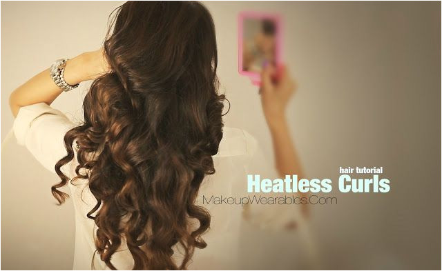 How to curl your hair without heat cute curly hairstyles for medium long hair tutorial video