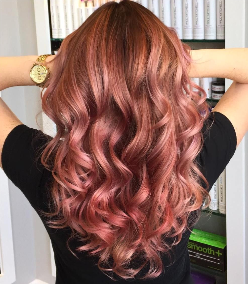 Rose Hair Color Rose Gold Hair Brunette Red Hair To Rose Gold Pretty