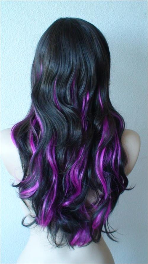 Purple Highlights for Summer Hair Pinterest
