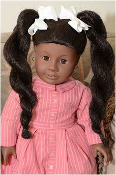 Lauren s AG Doll Addy modeling Historical Dress and Ponytails