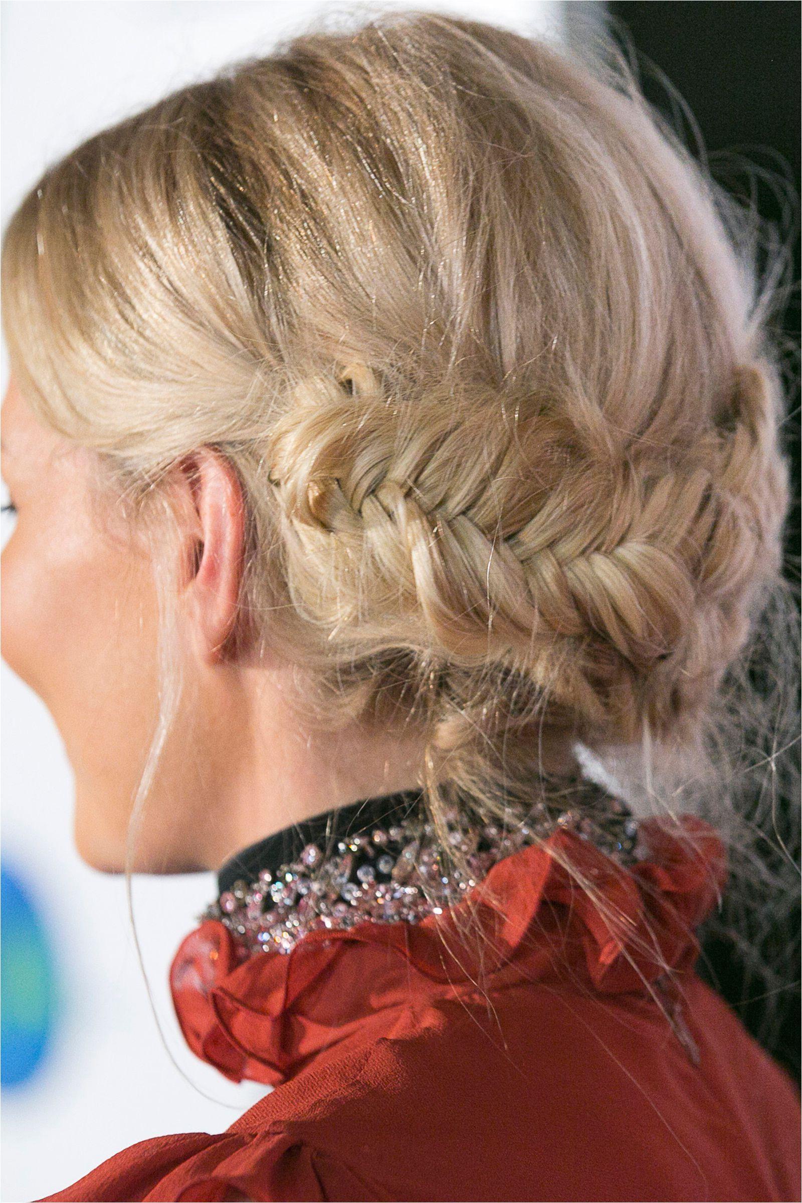 The fishtail braid HarpersBAZAARUK Braided Hairstyles Pretty Hairstyles Fishtail Updo Braided Updo