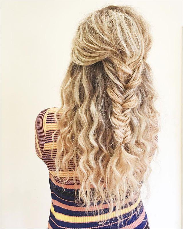 fishtail braid curly hair blonde curls blonde braid fishtail plait long hair