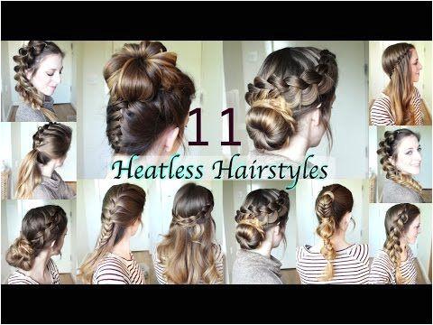 11 Heatless Hairstyles DIY Hairstyles