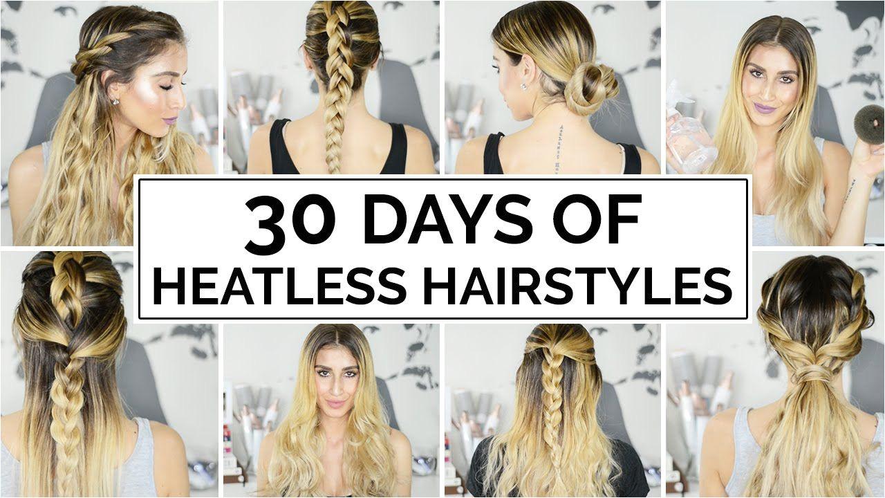 30 Days Heatless Hairstyles