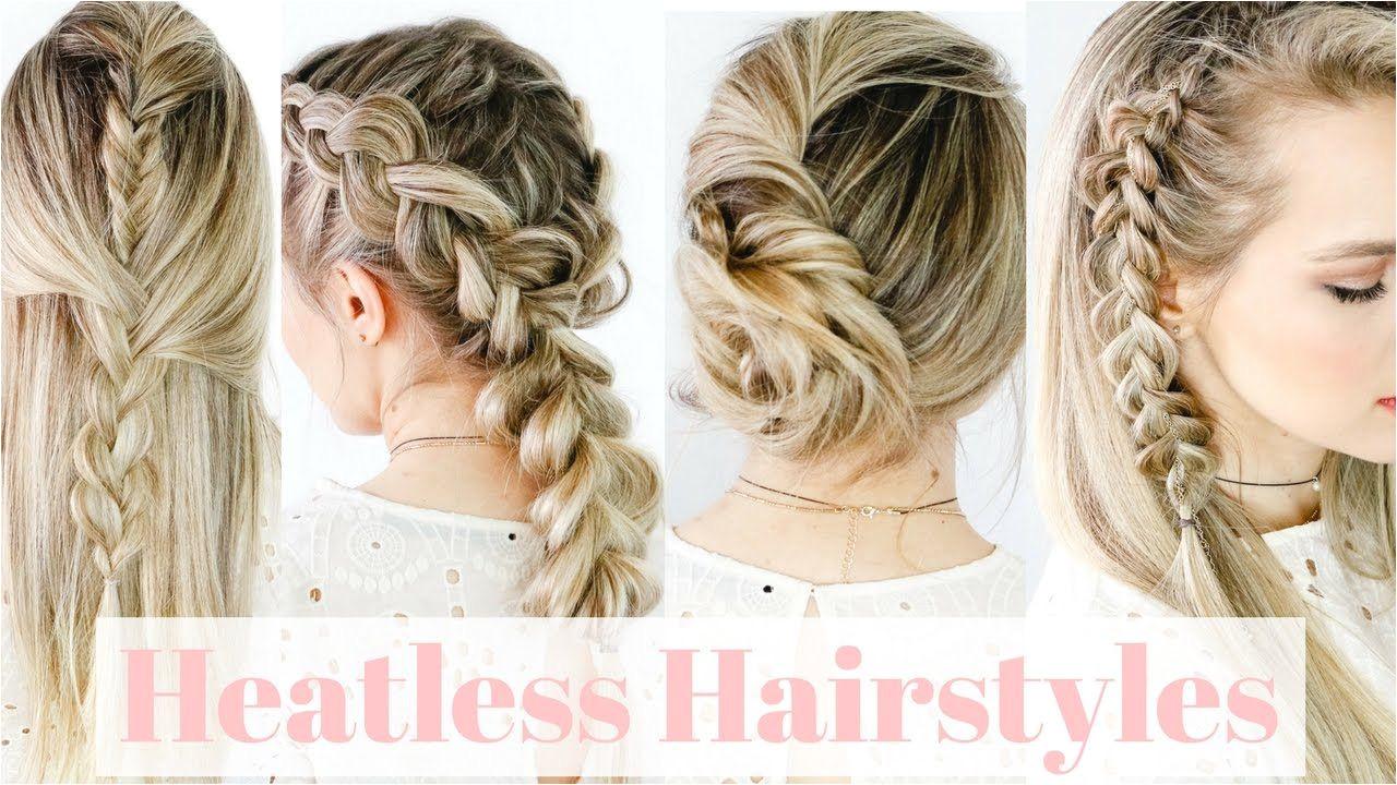 Heatless Hairstyles Straight Hair KayleyMelissa