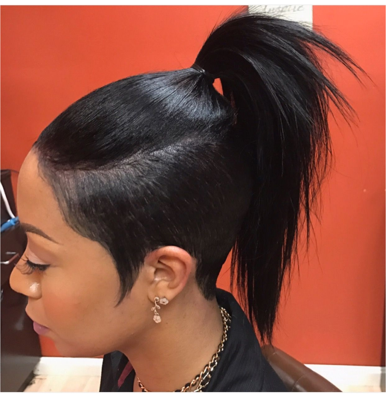 Cute half hawk ponytail Cute half hawk ponytail Ponytail Styles Short Hair