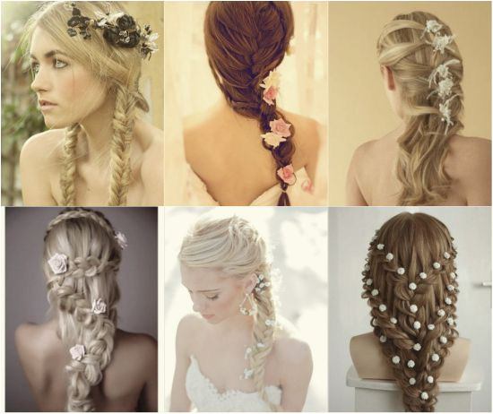 Newest braid hairstyles For Your Wedding Day Simple Long Embellished Braid